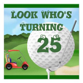 Invitations d anniversaire de golf d amusement