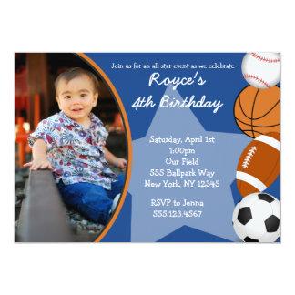 Invitations d'anniversaire de basket-ball de