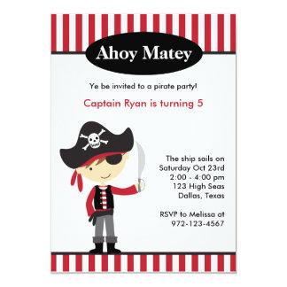 Invitations d'anniversaire de garçon de pirate