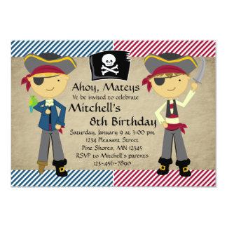 Invitations d'anniversaire de garçons de pirate