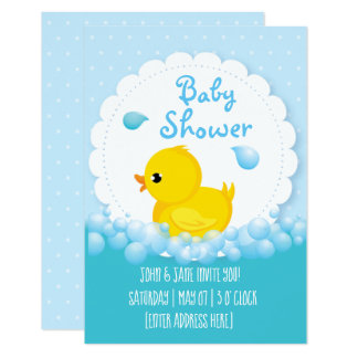 Invitations de baby shower de Bain-temps de canard