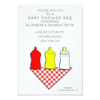 Invitations de baby shower de barbecue