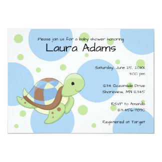 Invitations de baby shower de garçon de tortue de