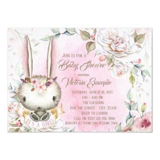 Invitations de baby shower de lapin
