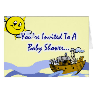 Invitations de baby shower de l'arche de Noé