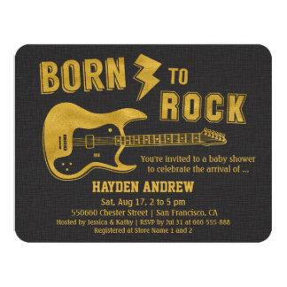 Invitations de baby shower de Rockstar de guitare