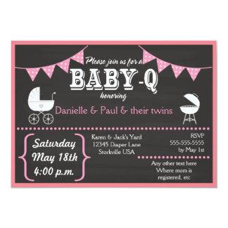 Invitations de baby shower de tableau de Bébé-q