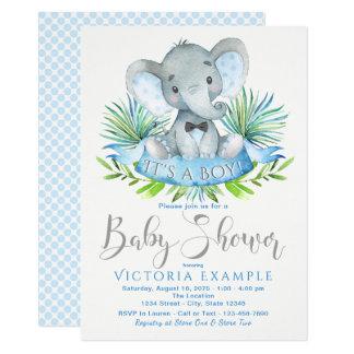 Invitations de baby shower d'éléphant de bébé de