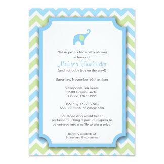 Invitations de baby shower d'éléphant de Little