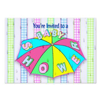 INVITATIONS de BABY SHOWER - rayures de
