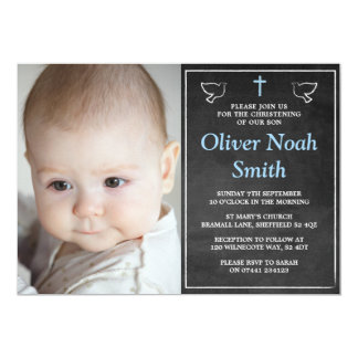 Invitations de baptême/baptême - bébé