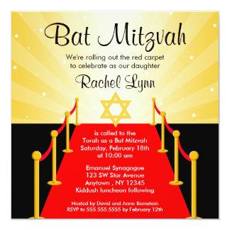 Invitations de bat mitzvah de Hollywood de tapis Carton D'invitation 13,33 Cm