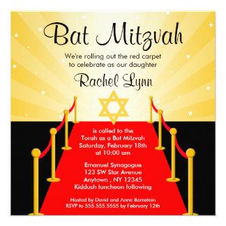 Invitations de bat mitzvah de Hollywood de tapis r