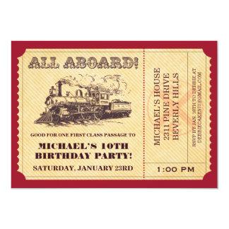 Invitations de billet de train