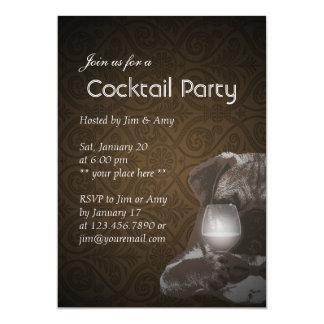 Invitations de chauffage de cocktail de monsieur
