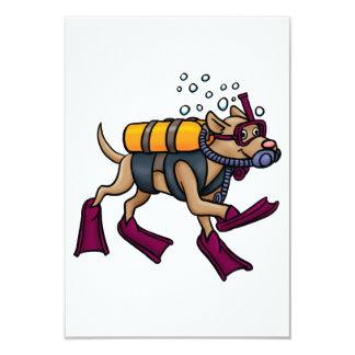 Invitations de chien de plongée à l'air