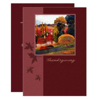 Invitations de dîner de thanksgiving de paysage