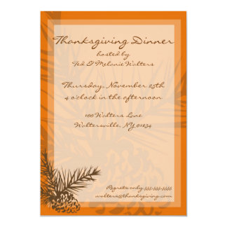 Invitations de dîner de thanksgiving de Pinecone