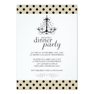 Invitations de fantaisie de dîner