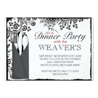 Invitations de fantaisie de dîner