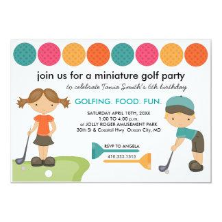 Invitations de fête d'anniversaire de golf
