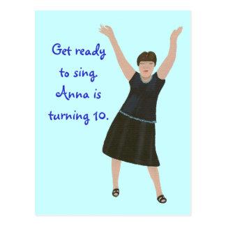Invitations de fête d'anniversaire de karaoke,