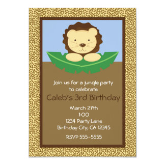Invitations de fête d'anniversaire de lion de