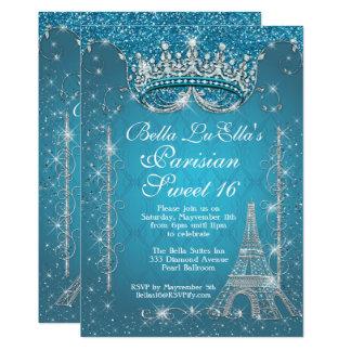 Invitations de fête d'anniversaire de Paris Bling