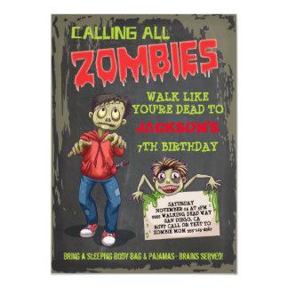 Invitations de fête d'anniversaire de zombi