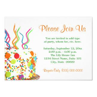 Invitations de gâteau d'anniversaire