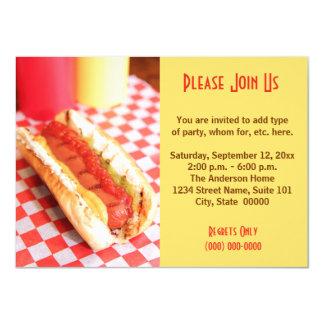Invitations de hot-dog