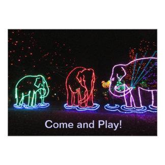 Invitations de jeu d'éléphants