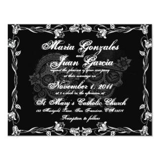 Invitations de mariage de couples de crâne de