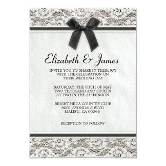 Invitations de mariage de dentelle du Pays Noir