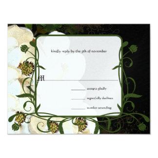 Invitations de mariage de magnolia sur la glace
