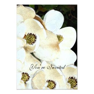 Invitations de mariage de magnolia sur le cadre