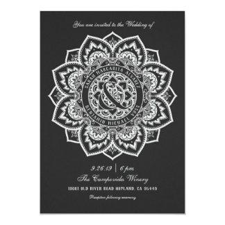 Invitations de mariage de mandala de dentelle