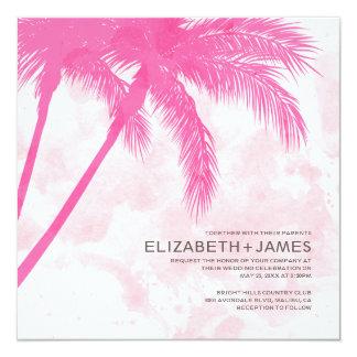 Invitations de mariage de plage de palmiers