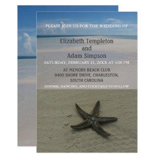 Invitations de mariage de plage d'étoiles de mer