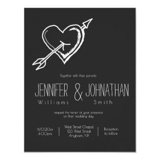 Invitations de mariage de tableau de flèche de