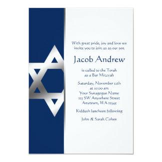 Invitations de Mitzvah de barre d'étoile de David
