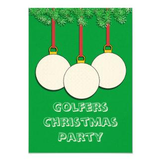Invitations de Noël pour des golfeurs
