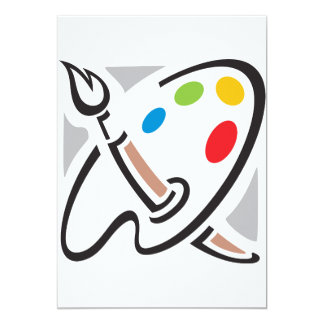 Invitations de palette de peintres