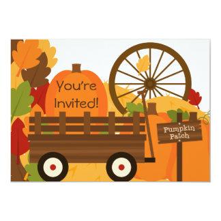 Invitations de partie d'automne de correction de