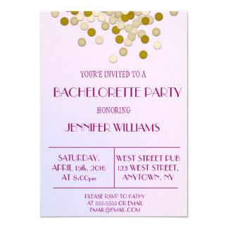 Invitations de partie de Bachelorette de confettis