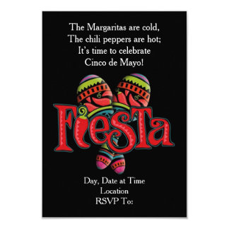 Invitations de partie de Cinco De Mayo de secousse