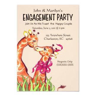 Invitations de partie de fiançailles de girafe