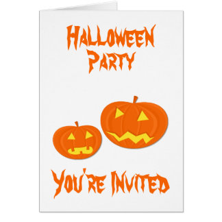 Invitations de partie de Halloween