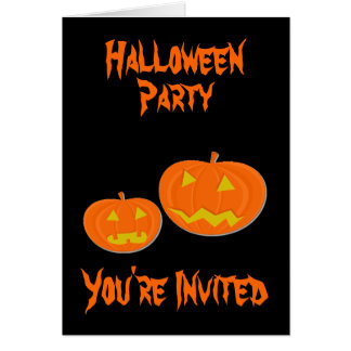 Invitations de partie de Halloween de citrouille