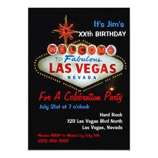 Invitations de partie de Las Vegas de fête